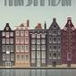 Vissevasse :: plakat amsterdam canal houses 70x100cm