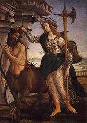 Reprodukcja pallade e il centauro, sandro botticelli