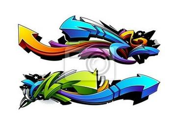 Naklejka graffiti strzałki projekty