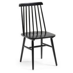 Drewniane krzesło dustan czarne