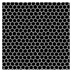 Szablon do scrapbookingu 15,2x15,2 - plastry miodu - PMI
