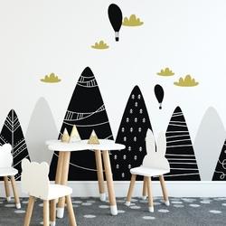 Tapeta dziecięca - black mountains , rodzaj - tapeta flizelinowa laminowana