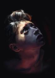 Portret chłopca - plakat premium Wymiar do wyboru: 30x40 cm