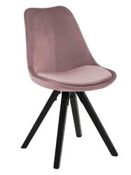 Krzesło dima vic dusty rose black - różowy