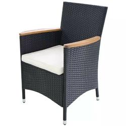 Zestaw foteli ogrodowych johny polirattan czarny