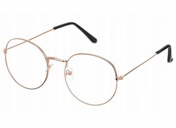 Okulary dla świętego mikołaja - złote lenonki