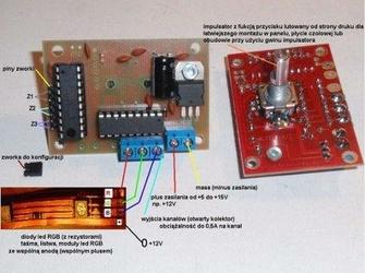Sterownik LED RGB - efekt tęczy