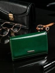 Skórzany portfel damski zielony lorenti 76112 - zielony