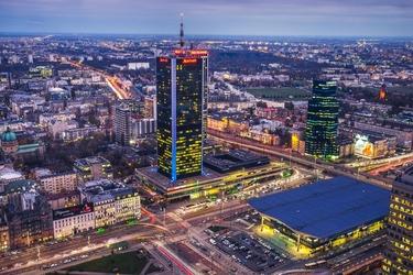 Warszawa dworzec centralny - plakat premium wymiar do wyboru: 84,1x59,4 cm