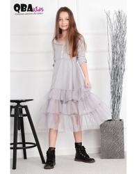 Szara sukienka tiulowa