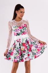 Soky soka  sukienka biały 49008-1