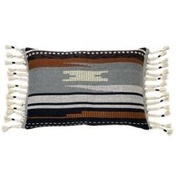 Hk living :: poduszka z aztecowym wzorem i frędzlami 50x70