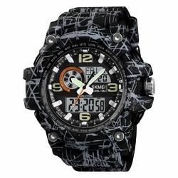 ZEGAREK MĘSKI sport SKMEI 1283 LED gray black - gray black