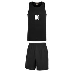 Komplet koszykarski Performance Vest Black z nadrukiem