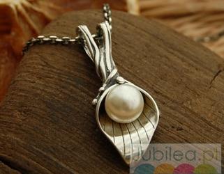EMMA - srebrny wisiorek z perłą