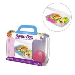 Lunch box różowy Bento Box To Go Sistema