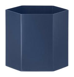 Doniczka Hexagon L niebieska
