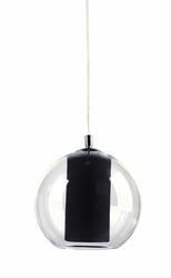 KASPA :: Lampa wisząca Merida M czarna - czarny