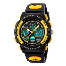 Zegarek DZIECIĘCY SKMEI 1163 DATOWNIK LED yellow - YELLOW