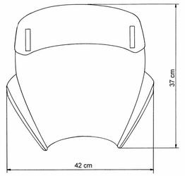 Uniwersalna szyba MRA do motocykli bez owiewek, forma - VTNB0 bezbarwna