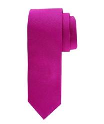 Elegancki różowy krawat jedwabny w odcieniu fuksji