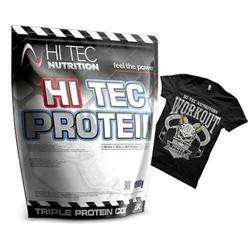 Hitec Protein 1000 g + TShirt Gratis - Strawberry  XXL