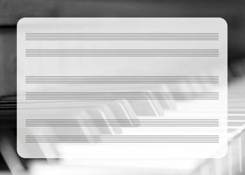 tablica edukacyjna suchościeralna pięciolinia 042 pianino