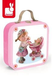 Puzzle 4w1 Lila bawi się lalką, Janod