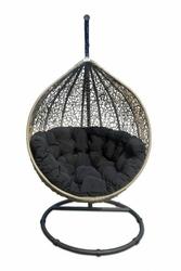 Miloo :: Fotel wiszący Cocoon beżowy  czarny - brązowo-czarny