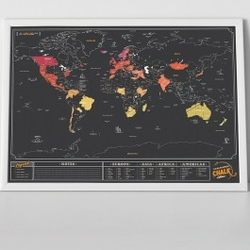 Mapa Zdrapka Tablica