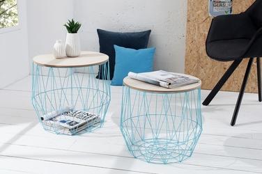 INTERIOR SPACE :: Zestaw 2 stolików kawowych Cage niebieski - niebieski