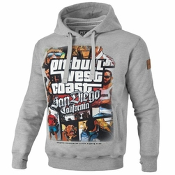 Bluza z kapturem Pit Bull West Coast Most Wanted - Hooded MOST WANTED GREY