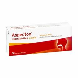 Aspecton Cassis tabletki do ssania na gardło