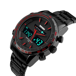 Zegarek MĘSKI TACHOMETR LED SKMEI 1131 red - RED