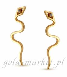 Kolczyki z żółtego złota z DIAMENTAMI CEOR109GG