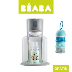 Beaba Zestaw Bibexpresso® Ekspres do mleka 3w1 grey z pojemnikiem na mleko w proszku blue