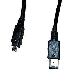 FireWire kabel IEEE 1394, IEEE 1394 6pin M- IEEE 1394 4pin M, 2m, czarny, Logo, blistr