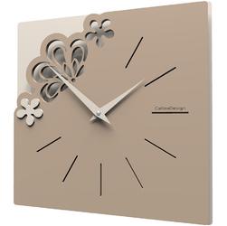 Kwadratowy zegar na ścianę Merletto CalleaDesign caffelatte 56-10-1-14