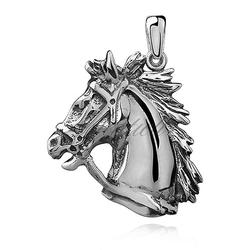 Srebrna zawieszka pr.925 koń  konik oksydowany
