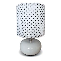 Nowoczesna lampka stołowa z abażutem w stylu pinup DeMarkt 607030101