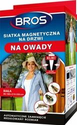 Bros, Magnetyczna biała siatka na drzwi zabezpieczająca pomieszczenia przed owadami, 100x220cm