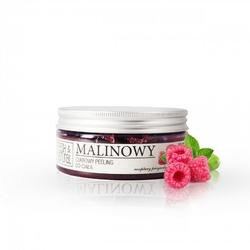 Fresh and Natural, Cukrowy peeling do ciała MALINOWY, 250g