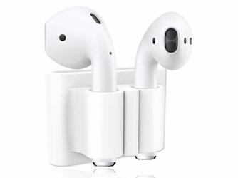 Uchwyt silikonowy zaczep strap do Apple Airpods Biały - Biały