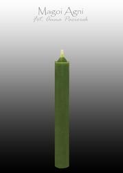 Zielona świeca z wosku 9x1,2cm