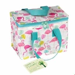 Kolorowa torba termiczna na lunch Flamingi, Rex London