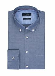 Elegancka niebieska koszula męska Profuomo z kontrastowymi wstawkami 45