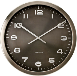 Zegar ścienny Maxie Steel Karlsson metalowy KA4625