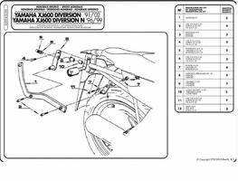 Stelaż centralny Givi 325F XJ 600 Diversion 91-03