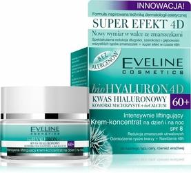 Eveline bioHyaluron 4D, intensywnie liftingujący krem, dzień i noc, 60+, 50ml