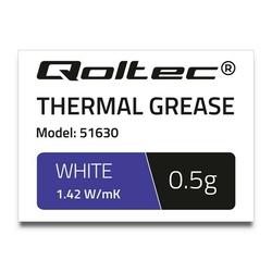 Qoltec Pasta termoprzewodząca | 1.42Wm-K | 0,5g | biała